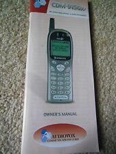 VINTAGE AUDIOVOX WIRELESS DIGITAL HANDSET CDM-9150X OWNERS MANUAL