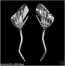 PAIRE de rétroviseur Chrome Mains de Squelette pour moto shadow virago leonart
