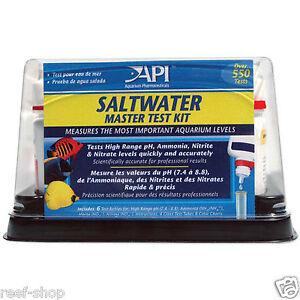 API Saltwater Master Test Kit PH Ammonia Nitrate Nitrite Aquarium Water Tests