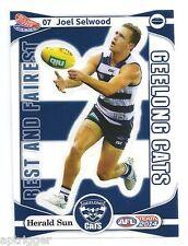 2014 Teamcoach Best & Fairest Sticker (07) Joel SELWOOD Geelong