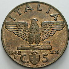1942   Regno D'Italia  5 centesimi impero