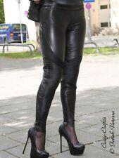 Lederhose Leder Hose Schwarz Biker Stretch Maßanfertigung