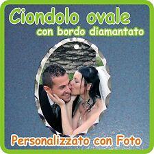 CIONDOLO OVALE DIAMANTATO personalizzato con FOTO!!!!