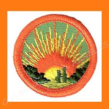 ENERGY SAVER Girl Scout Badge Worlds to Explore Solar Sun NEW Multi=1 Ship Chrg