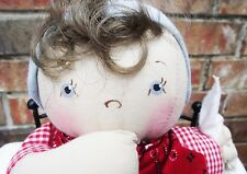 JAN SHACKELFORD 11 in BROWN HAIR HANDMADE PAINTED LITTLE YOUNG'UN CLOTH DOLL NEW