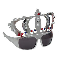 Crown shaped glasses,fun party glasses,king's crown glasses,silver color