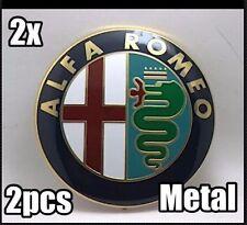 2x Alfa Romeo METAL Emblem Kühlergrill 147 GT Mito Giulietta 159 Brera NEU alfa