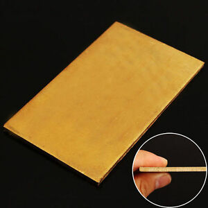 Brass Metal Thin Sheet Plate Welding 60x100x3mm Metalworking Craft DIY