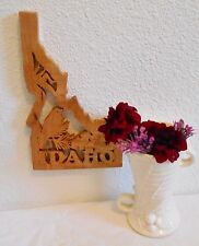 IDAHO State Shape Wood Cutout Sign Wall Art Design Decor.  Beautiful!