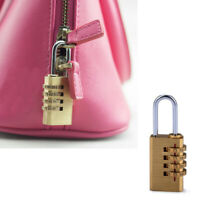 Mini 4 Digits Number Code Lock Combination Padlock Resettable For Travelling Bag
