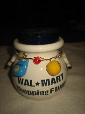 WALMART SHOPPING FUND CERAMIC COIN PIGGY BANK WITH CHARMS AND BEADS