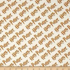 Camelot Harry Potter Digital Diagonal Logo Multi 100% cotton fabric by the yard