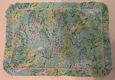 Lilly Pulitzer Standard Pillow Sham Blue Heaven Fabric colorful blue green white