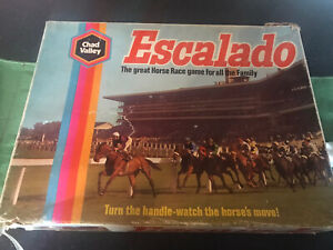 Escalado Vintage Racing Game  with 5 metal horses By Chad Valley - Used