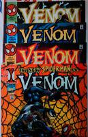 🕷️ VENOM ALONG CAME A SPIDER #1 2 3 4 COMPLETE VF+ marvel SPIDERMAN Hybrid 1996