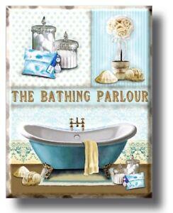 Bathroom toilet bathing parlour Plaque Sign gift vintage retro style door wall