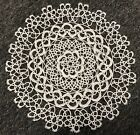 White+Round+Handmade+Tatted+Lace+Reticella+Doily+Doilies+Wedding+Bridal+Party