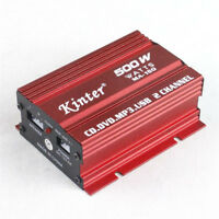 12V 500W Mini Hi-Fi 2 Channel Vehicle Car Stereo Audio Amplifier Amp Subwoofer