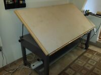 Hamilton VR Electric Powered Drafting Table Vemco Drafting Machine - Electric drafting table
