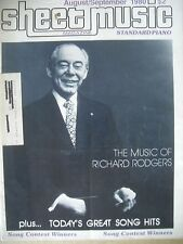 SHEET MUSIC MAGAZINE SEPTEMBER 1980 THE MUSIC OF RICHARD RODGERS AND MORE...