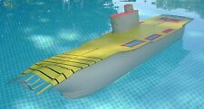 """Vintage 1960s GI/G.I. Joe inflatable 39"""" AIRCRAFT CARRIER pool toy boat JTC"""