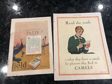 Vintage Cigarette Ads Camel Chesterfield