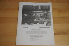 M&W Gear CO MW Live Hydraulic Pump Kit Brochure IH Farmall H M Super H Super M