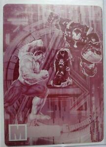 Iron Man vs Hulk 2015 Avengers Printing Plate ONE-OF-ONE Rare card #MD12