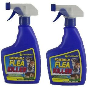 2 x Household Flea Killing Spray For Pet Cat Dog Carpet Furniture Bed Sofa 500ml