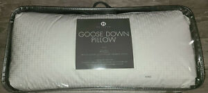 Hotel Collection King Medium Support White Goose Down Pillow msrp $400
