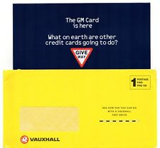 GM Vauxhall Credit Card 1990s UK Market Mailer Foldout Brochure