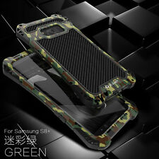 For Samsung Galaxy S8/S8+ Plus R-JUST Shockproof Carbon Fiber Metal Case Cover