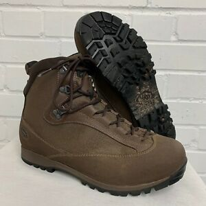 AKU BROWN LEATHER HIGH LIABILITY COMBAT BOOTS , Size: 9 Large British Army Issue