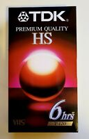 TDK 6 hour HS Premium Quality T-120 Blank VHS Tapes New & Sealed Free Shipping