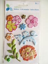 ATD Puffy Pegatinas En Capas-Flores Silvestres