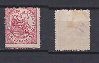 SPAIN 1874 Justice 4 Pta Rose Mint * 209 (Mi.143)