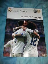 REAL MADRID v FC BARCELONA 23.4.17 football programme Poster Cristiano Ronaldo
