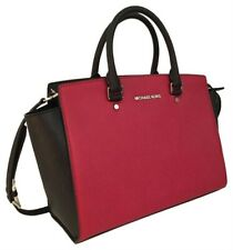 NEW Michael Kors Selma Red & Black Saffiano Leather Bag | RRP €395