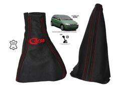 """Soufflet Levier De Vitesse Et Frein Pour Opel Corsa C 2000-06 Cuir """"Corsa"""" Rouge"""