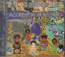 Acordeon Norteño Del Conejo Bailables Escolares CD
