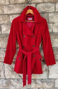 UK12 Per Una M&S Corduroy Belted Scarlet Jacket fully lined vg cond.