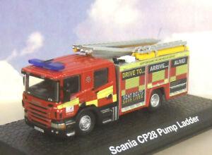 ATLAS/OXFORD 1/76 SCANIA CP28 PUMP LADDER ENGINE HERTFORDSHIRE FIRE & RESCUE