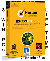 Norton Utilities v16 PC Cleaner for 3 PCs Life time license Global