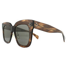 02662cdc947 Celine Kim CL 41444 07b Brown Havana Plastic Square Sunglasses Grey Lens