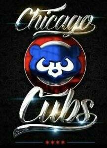 2 Chicago Cubs Glossy Waterproof Vinyl Stickers 4x3 Car Decal
