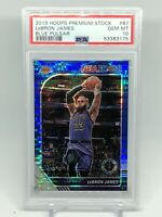 Lebron James 2019-20 HOOPS PREMIUM STOCK BLUE PULSAR PSA 10 Gem Mint Lakers