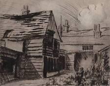 OLD BUILDINGS Etching JOHN THIRTLE FRSA c1930