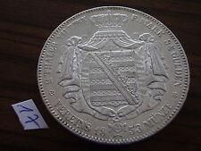Sachsen Doppeltaler 1853 F hübsch! Friedrich August II. 1836-1854 2 Taler Silber