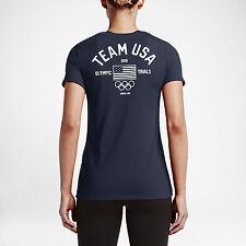30e75dc78 Nike WMNS DRY USA Olympic Trials T-Shirt 801611 451 Obsidian White (WOMEN S