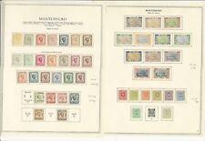 Montenegro Collection 1874 To 1945 sur 12 Minkus Spécialité Pages